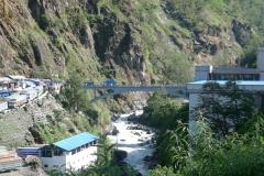 Zangmu, die Grenzbruecke zwischen Nepal und Tibet