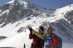 Andy mit  Manfred vor der Scheichenspitze (Herbert Raffalt)