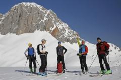 Unsere Gruppe vor dem Koppenkarstein im Dachsteinmassiv (Herbert Raffalt)