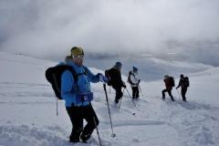 Andy mit Gruppe bei Abfahrt (Foto: Erwin Reinthaler)