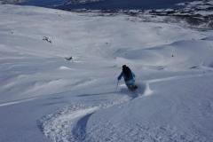 Andy schwingt durch den norwegischen Pulverschnee (Foto: Erwin Reinthaler)