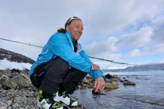 Andy am Strande von Tromso (Foto: Erwin Reinthaler)