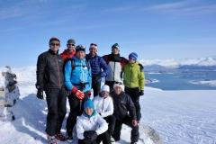Unsere Gruppe am Gipfel des Botnfjellet (Foto: Erwin Reinthaler)