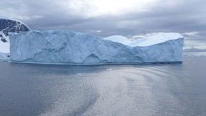 Iceberg at the Antarctic coast