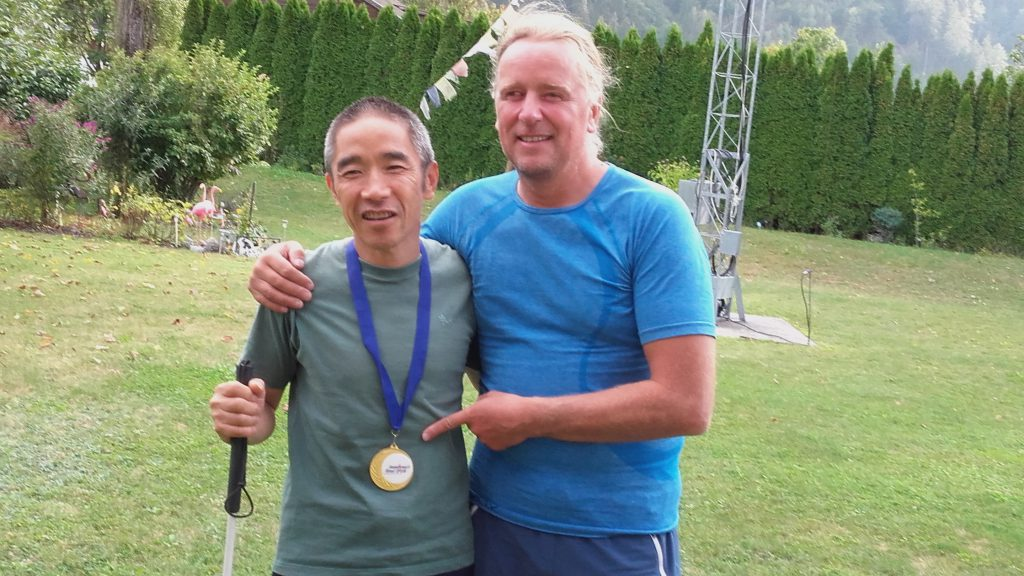 Worldchampion Koba mit Everest-summiter Andy (Sabine Holzer)